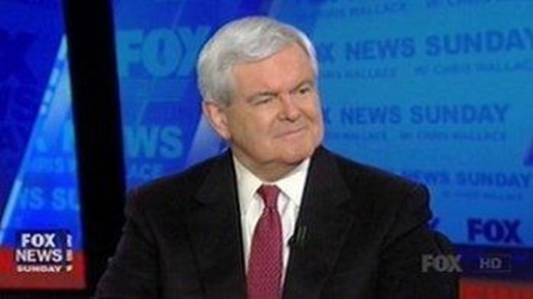 Newt Gingrich at his former home.