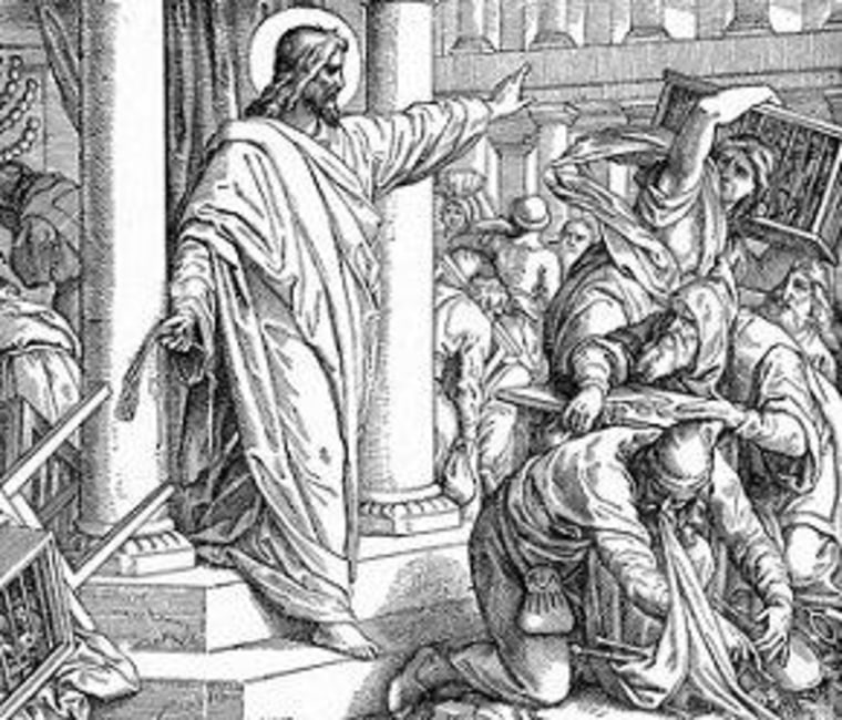 Jesus and the money changers