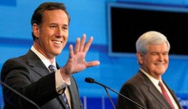 Gingrich is not Santorum's problem
