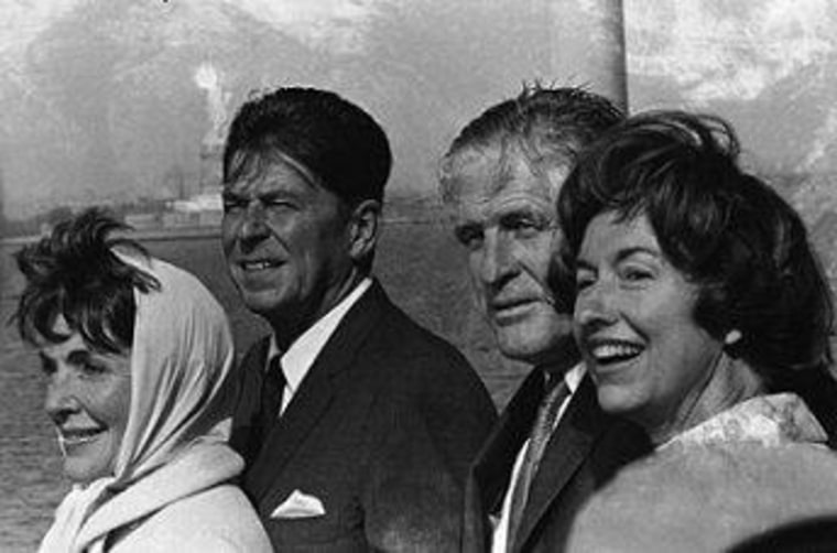 The Reagans and the Romneys in 1967.