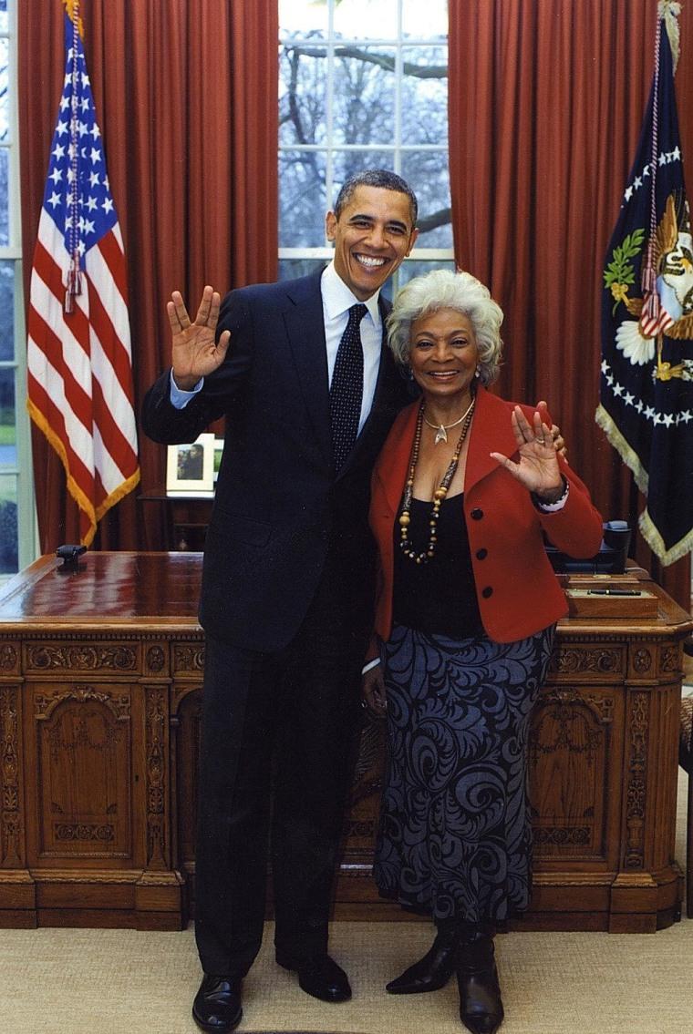 Taken 2/29/12 in the Oval Office - Live Long & Prosper!