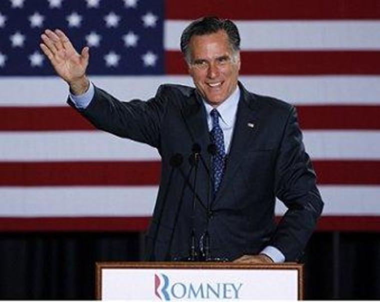 Romney cruises; Santorum looks ahead