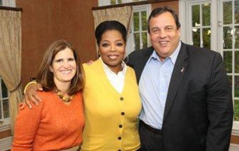 Chris Christie went off-message with Oprah.