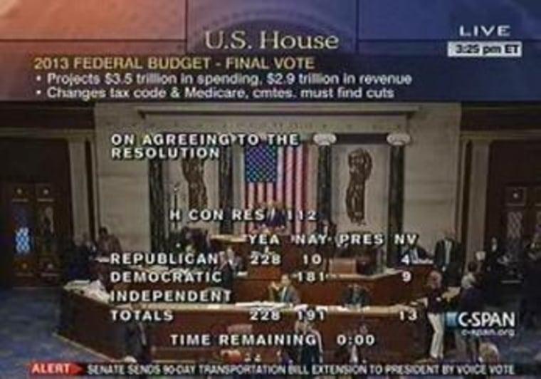House approves radical GOP budget plan