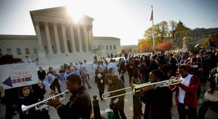 The health care debate -- and the festivities outside -- wrap up at the Supreme Court today.