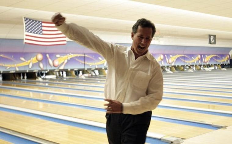 Santorum cruises in Louisiana