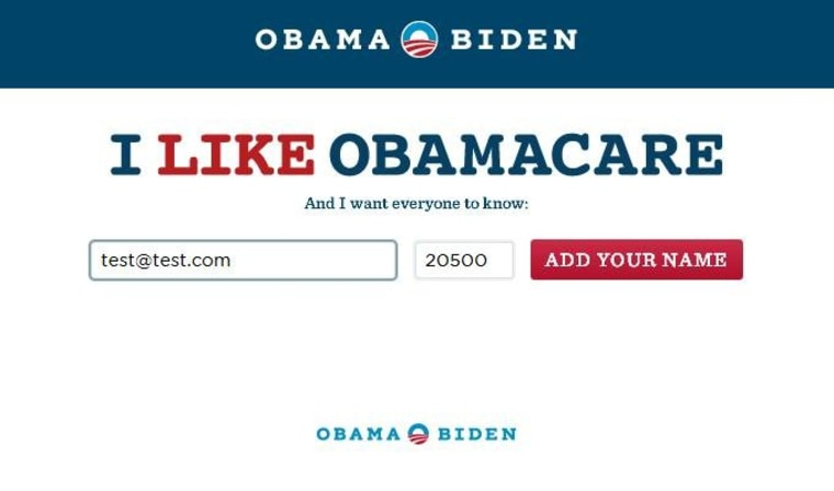 The Obama campaign's new website
