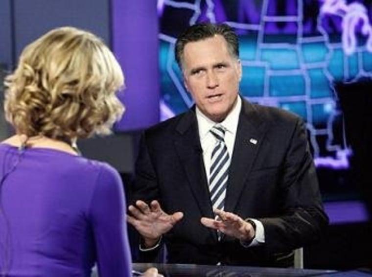 Romney talks with Fox News' Megyn Kelly this week.