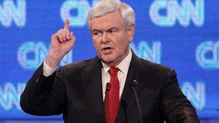 Gingrich counts the number of people who consider him a viable candidate.