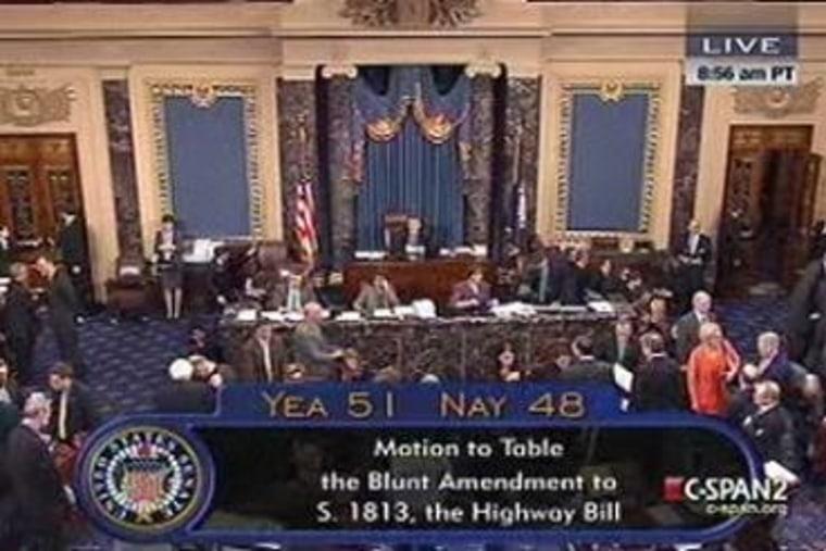 Senate narrowly defeats Blunt Amendment