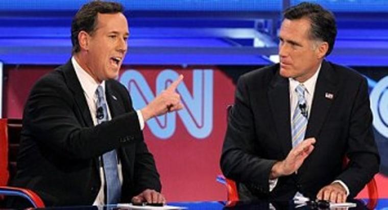 Romney slams Santorum for agreeing with him