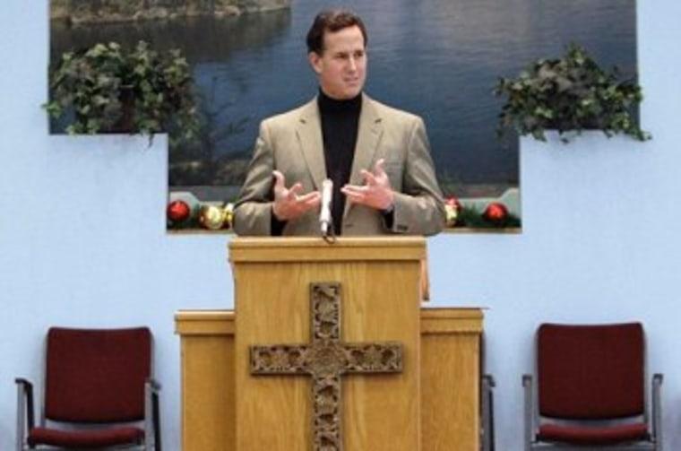 What makes Santorum nauseous