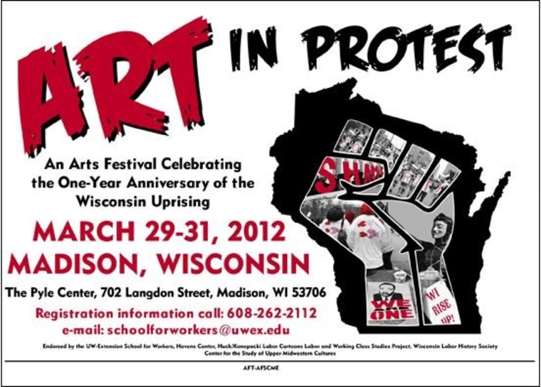 Art attack (God bless Wisconsin)