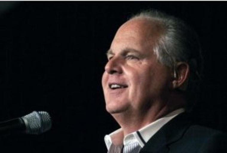 Limbaugh ties Romney to 'Occupy' rhetoric