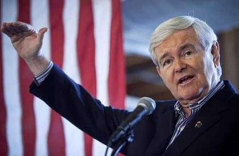 How Gingrich defines 'barely'