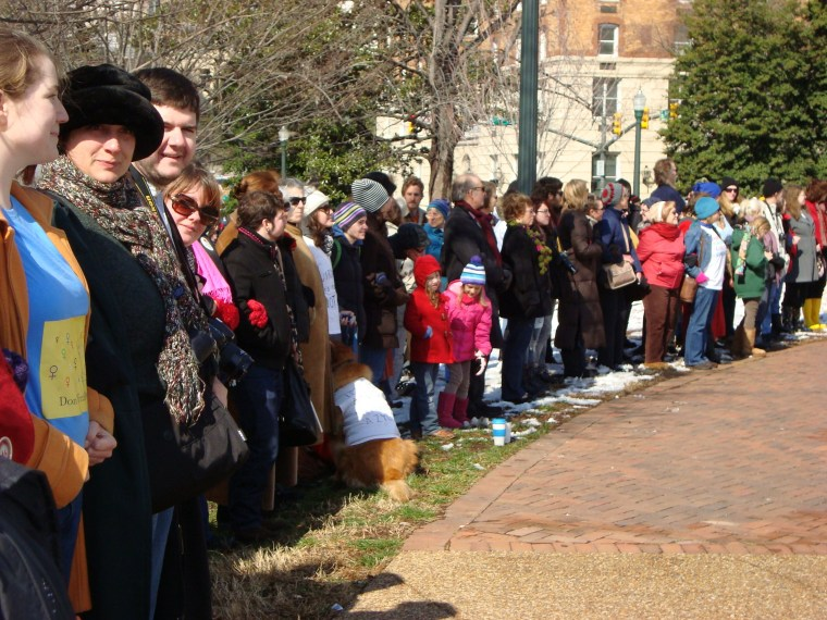 Silent protest outside, Virginia House puts off ultrasound vote