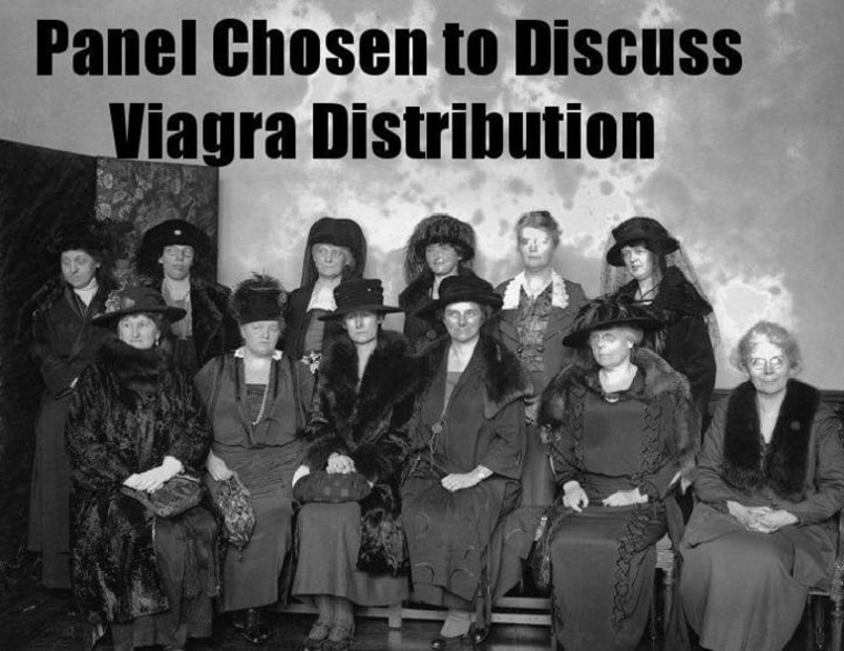Just a suggestion: 'Panel Chosen to Discuss Viagra Distribution'