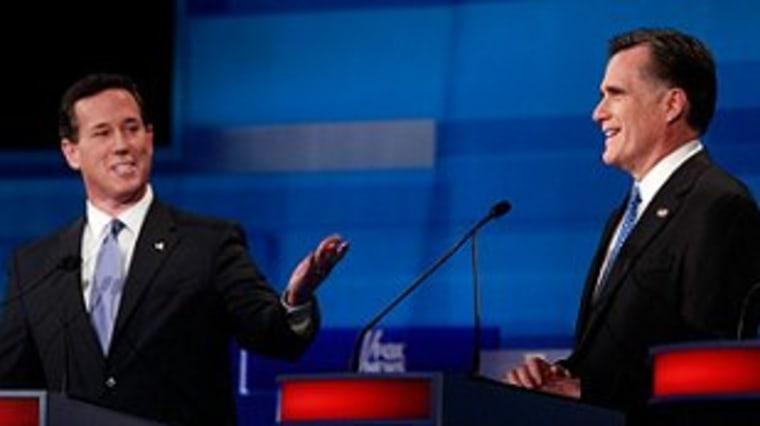 Romney targets Santorum's vulnerabilities
