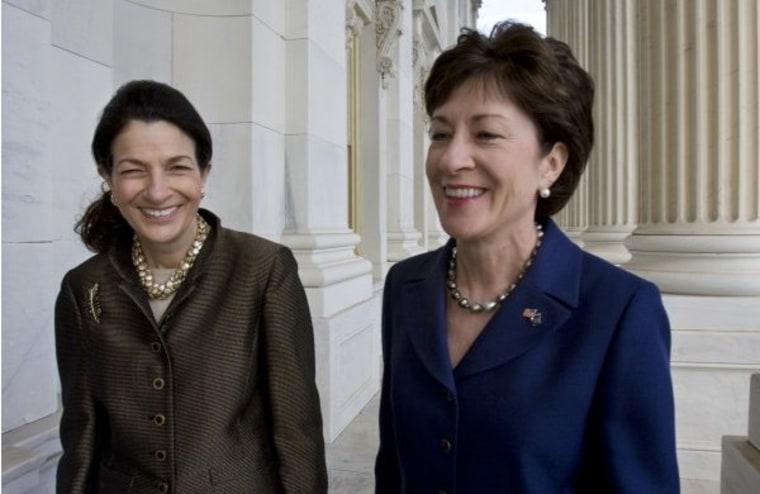 Snowe, Collins break ranks on contraception coverage.