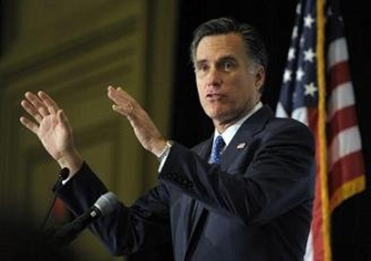 Romney's early valentine to Big Business