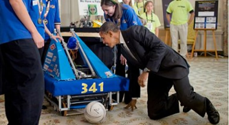 President Obama at the 2010 White House Science Fair