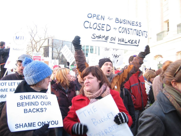 From the March 2011 protests in Wisconsin.