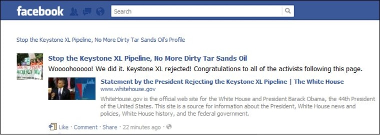 President says no to Keystone pipeline; oil executives say they'll try again