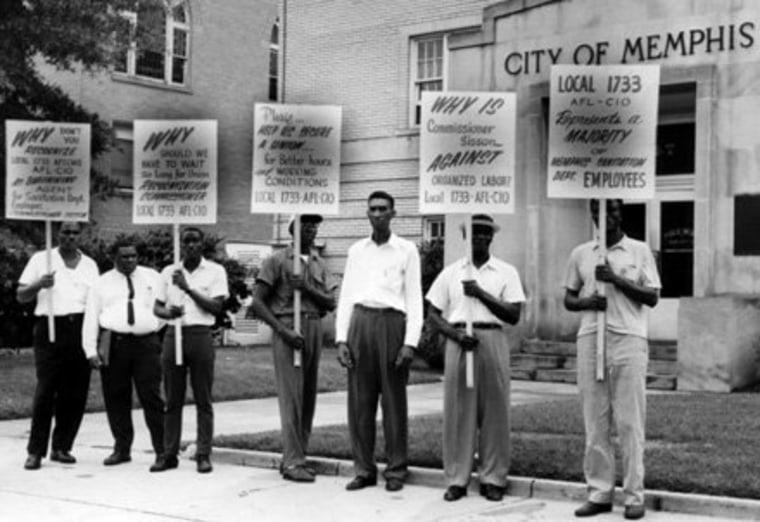 The Memphis sanitation workers' strike