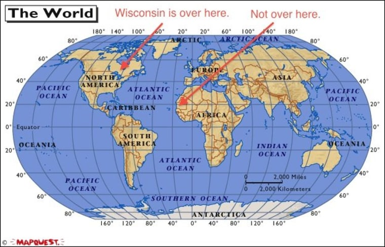 Wisconsin, you're voting in Africa now