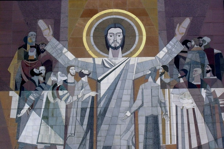 """Indiana's \""""Touchdown Jesus\"""" lives at Notre Dame, a private college."""
