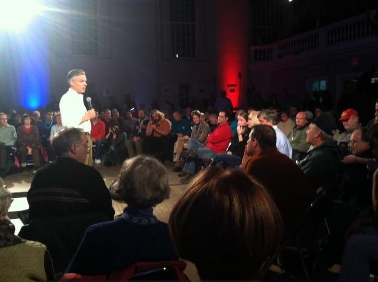 The meaning of Iowa? Ask Jon Huntsman, with New Hampshire 'all to himself'