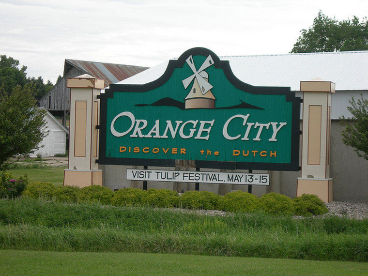 The second-biggest town in Sioux County, Iowa.