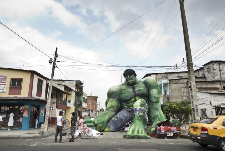 Hulk, en fuego!