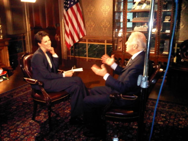 Tonight: Joe Biden on the lessons of war