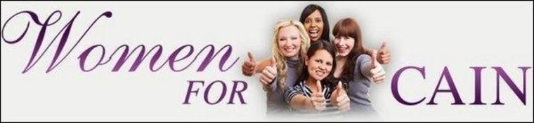 'Women for Herman Cain' also women for cell phones, laptops, balloons, etc.