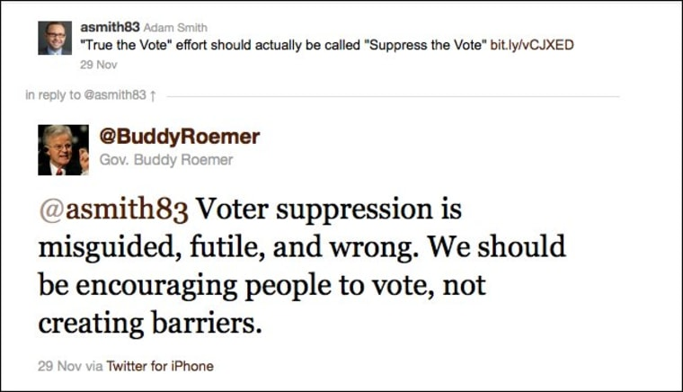 Buddy Roemer and voting rights