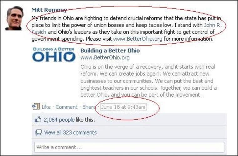 Mitt Romney goes to Ohio