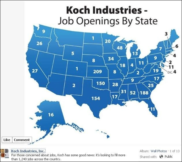 Map: If you're worried about jobs, work for Koch
