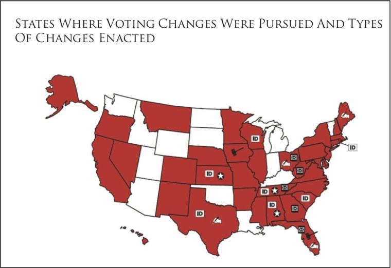 Map: Making voting harder