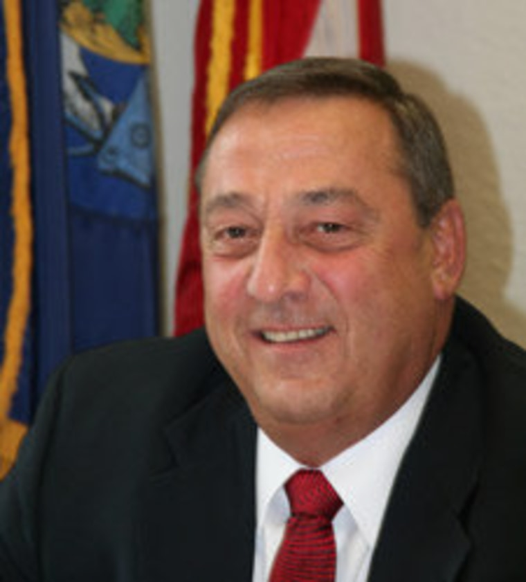 Governor Paul LePage, same-day-registration voter, same-day-registration opponent.