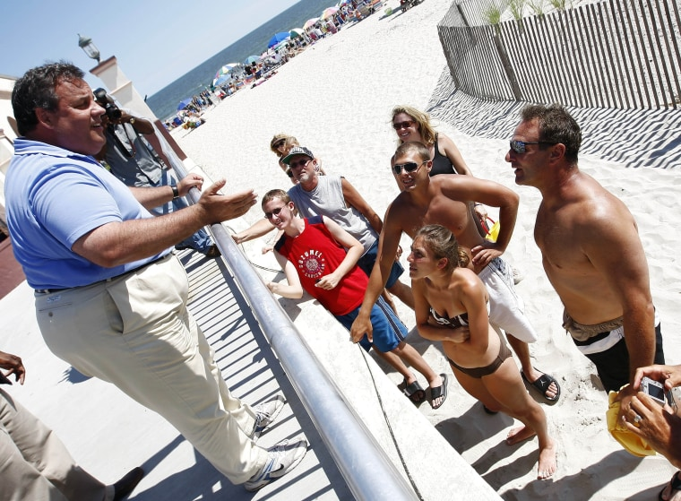 Governor Christie at the Jersey Shore.