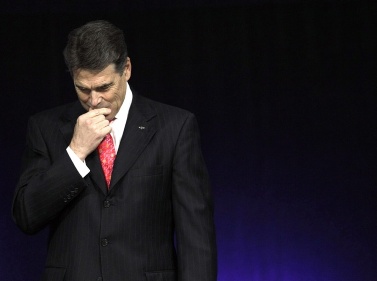 Say, what's Rick Perry up to this weekend?