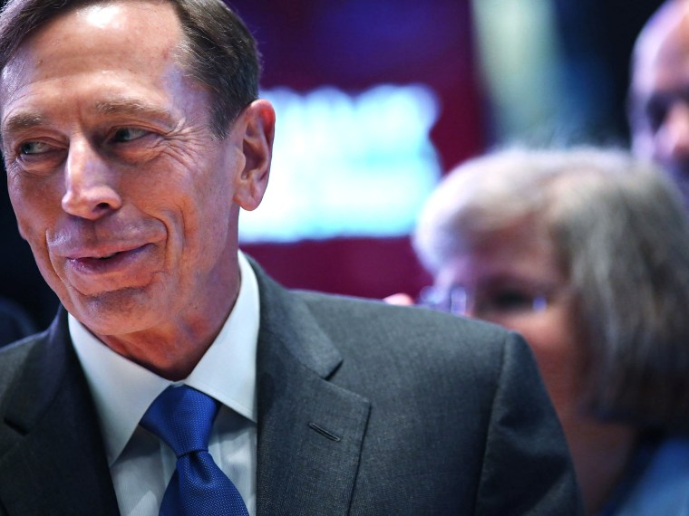 Image: CIA Director David Petraeus Rings The Opening Bell At The New York Stock Exchange