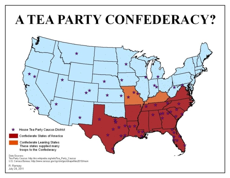 Map: The Tea Party Confederacy