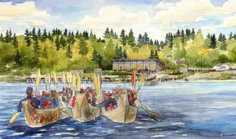 The dugout canoes of the Suquamish