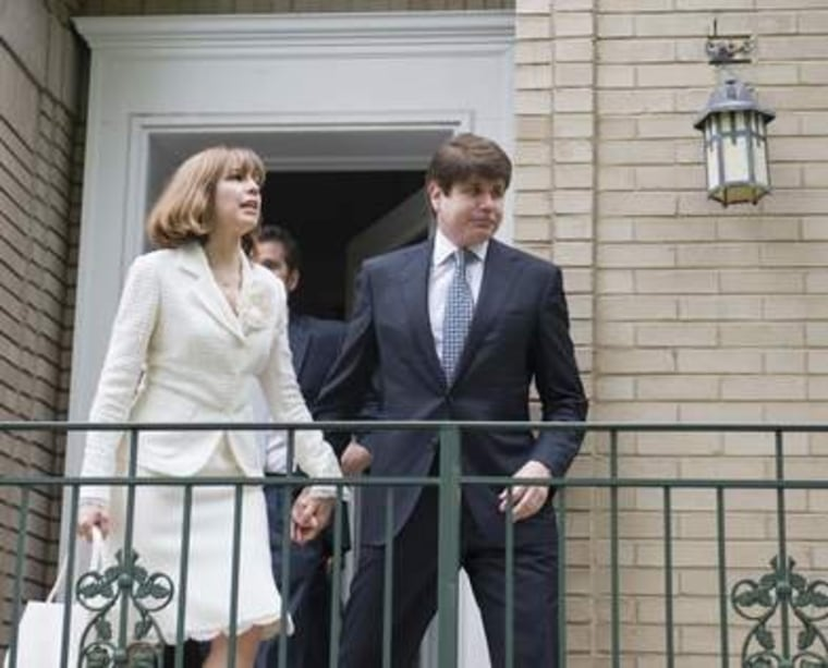 The governor and his wife leave home for court.