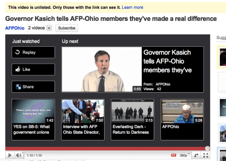 #Ohio governor tiptoes over to AFP (Koch is everywhere, part II)
