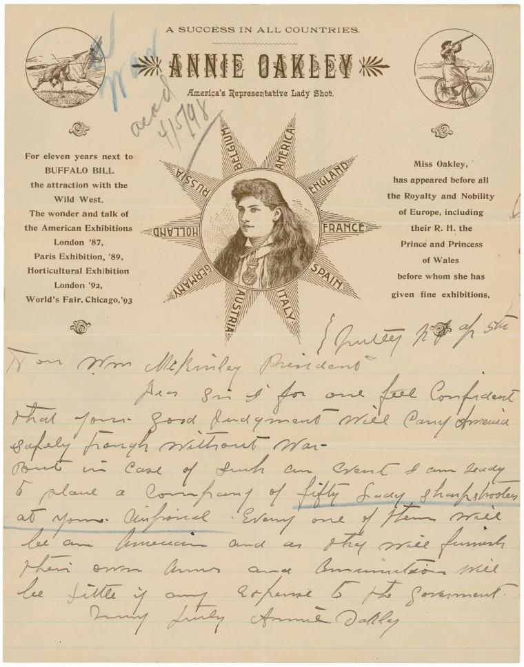 Annie Oakley had awesome stationery