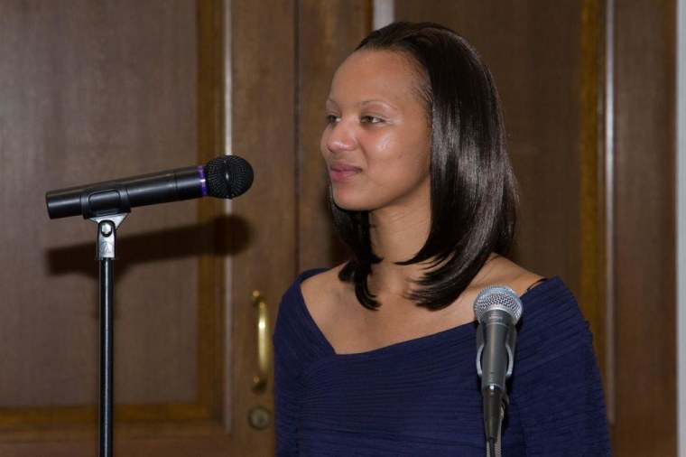Trafficking survivor Aisha Graves, one of our guests today.