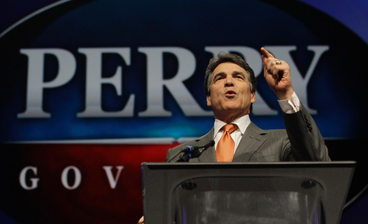 Texas Gov. Rick Perry at last month's Texas Republican Convention.